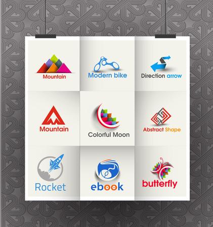 tecnologias de la informacion: Colección de Logo Vector negocio Diseño Set Vectores