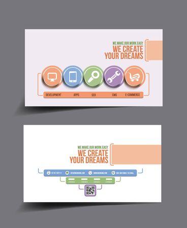 design solutions: Apps Development Business Card Template.
