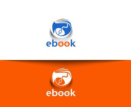 online logo: Symbol of ebook vector Logo design