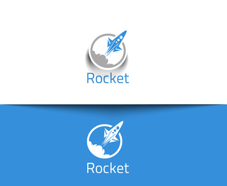 mosca caricatura: Abstract Icons Rocket web y vector logo