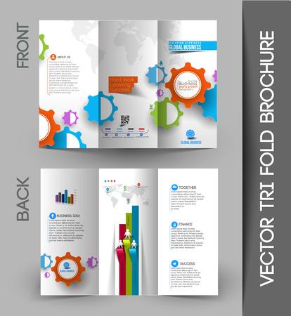 customer support: Corporate Business Tri-Fold Mock up & Brochure Design