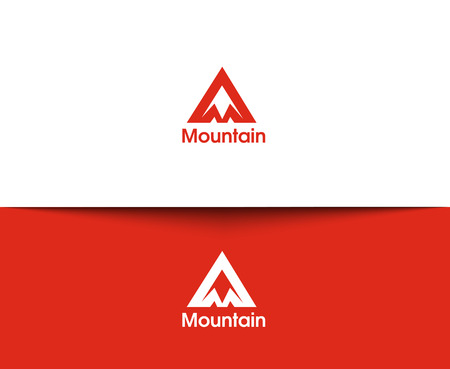 snow mountains: Mountain web Icons and vector logo