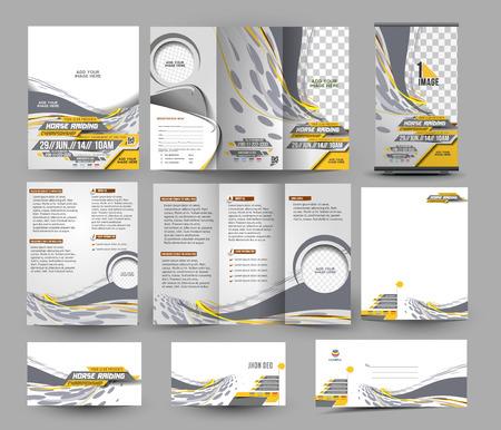 Template jockey Concurrentie Zaken Papier Set