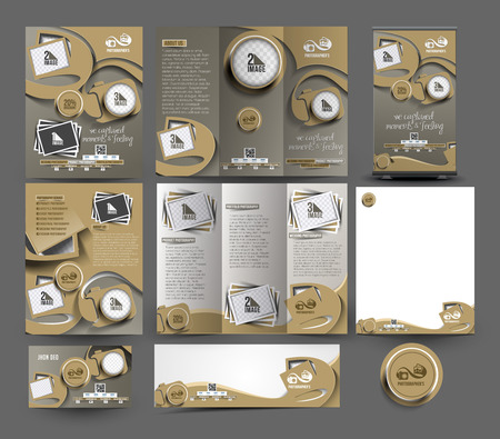 Photography Studio Business Stationery Set Template