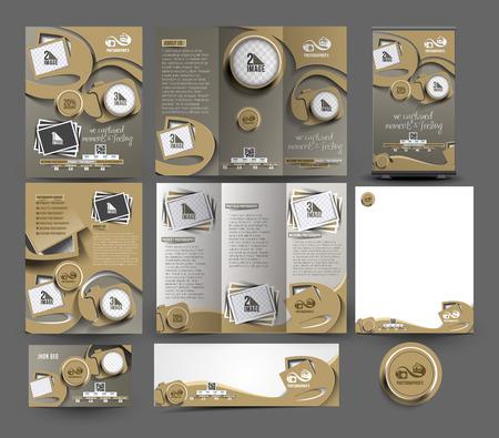 papeleria: Plantilla de estudio Fotografía Negocio Conjunto de papelería Vectores