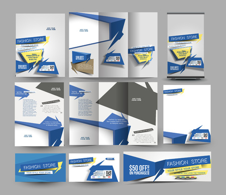 bussiness card: Fahion Store Business Stationery Set Template