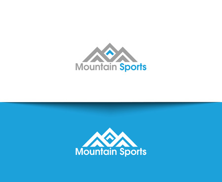 Mountain web Pictogrammen en vector logo Stock Illustratie