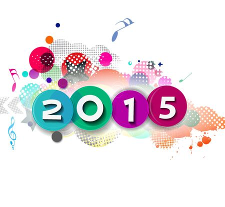 new years resolution: Happy new year 2015 Background Illustration