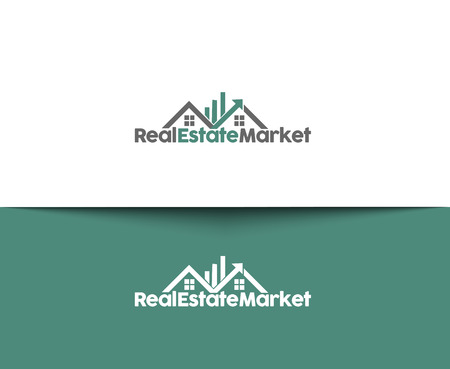 real estate icons: Abstract Real Estate Icons and vector logo