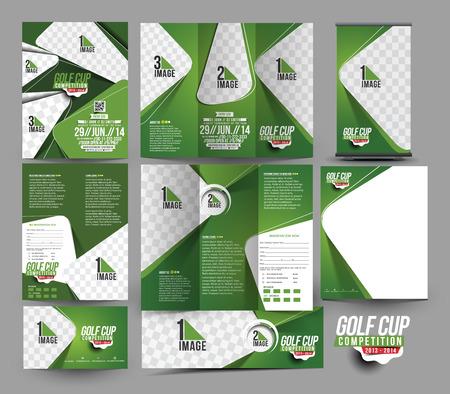 Template Golf Club Zaken Papier Set