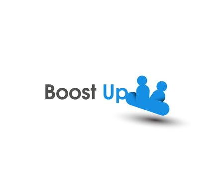 coup de pouce: Boost Up ic�nes web et logo vectoriel Illustration