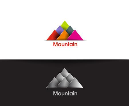 rocky mountain: Mountain web Icons and vector logo