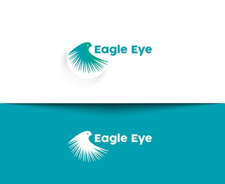 Eagle Eye web Icons and vector logo Illustration