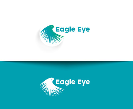 Eagle Eye web Pictogrammen en vector logo