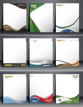 business style: Nine Business Style Corporate Identity Leterhead Template.