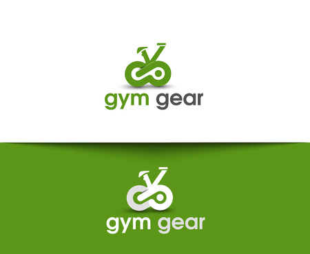 diet food: Gym Gear Web Icons and Vector Logo