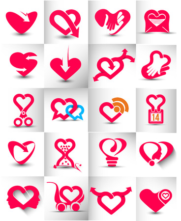 inlove: Collection of Heart Icons, ideal for valentines day and wedding