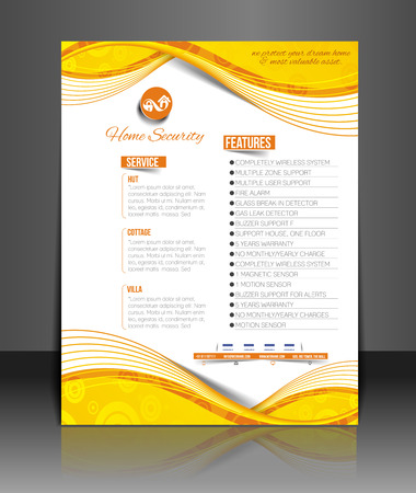 real people: Home Security Agent Flyer & Poster Template