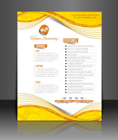 agent de s�curit�: Home Security Agent Flyer & mod�le d'affiche