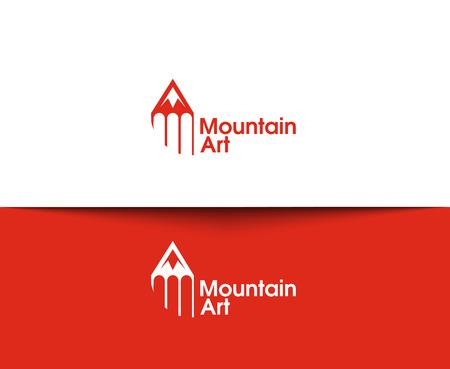 logo voyage: Montagne Icônes web et logo vectoriel