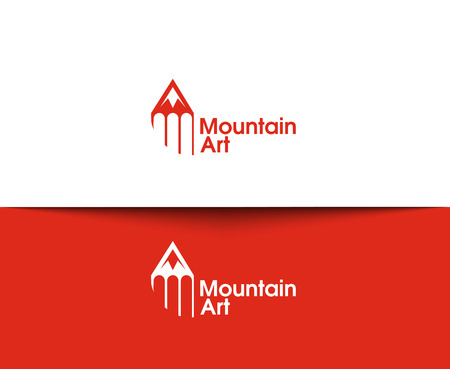 travel logo: Mountain web Icons and vector logo