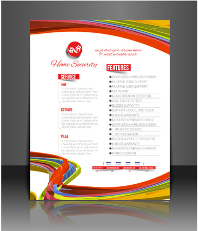 home security: Home Security Agent Flyer & Poster Template
