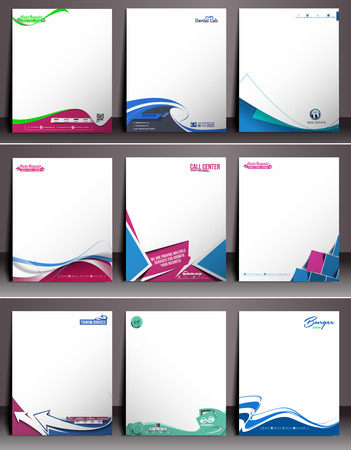 letter head: Business Style Corporate Identity Letterhead Template.
