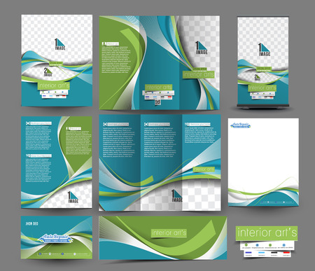 Interior Designer Business Stationery Set Template