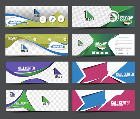 website banner: Collection of Sale Discount Styled Website Banner Illustration