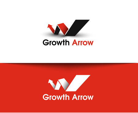 up growth: Growth Arrow web Icons and vector logo