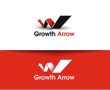 growth chart: Growth Arrow web Icons and vector logo