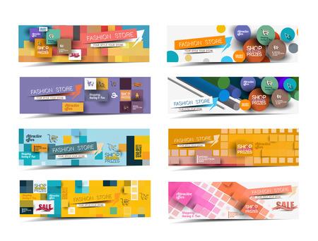 banner website: Collectie van Fashion Sale Discount Styled Website Banner Stock Illustratie