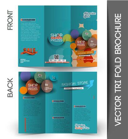 folder: Corporate Business Tri-Fold Mock up & Brochure Design