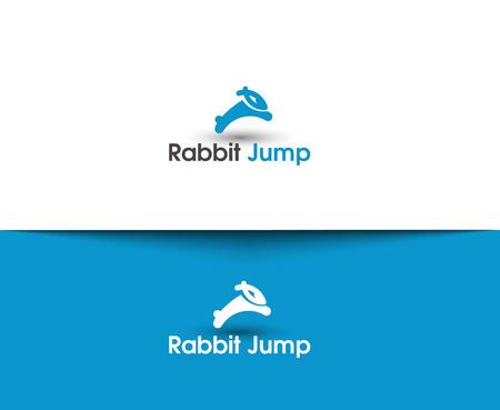 chinese new year rabbit: Rabbit Jump Web Icons and Vector Logo