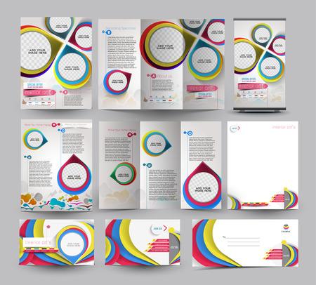 interior designer: Interior Designer Business Stationery Set Template. Illustration