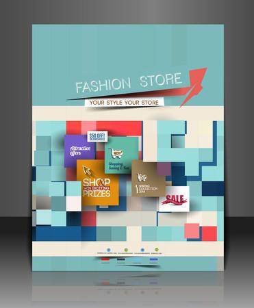 shoping bag: Shopping Center Store Flyer Template Design