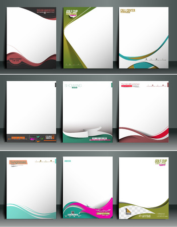 Business Style Corporate Identity Letterhead Template. 版權商用圖片 - 41833686