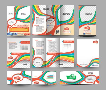 De Template International School Zakelijk Papier Set