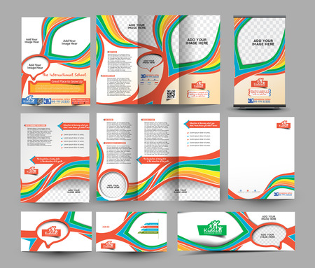 fold: The International School Business Stationery Set Template