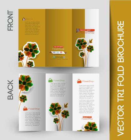 stationary: Corporate Business Tri-Fold Mock up & Brochure Design