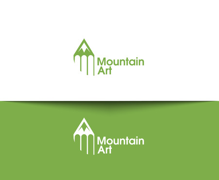 biking: Mountain web Icons and vector logo