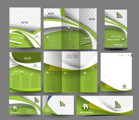 Binnenlandse Ontwerper Visitekaartje Papier Set Stock Illustratie