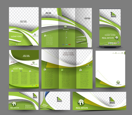 fold: Interior Designer Business Stationery Set Template