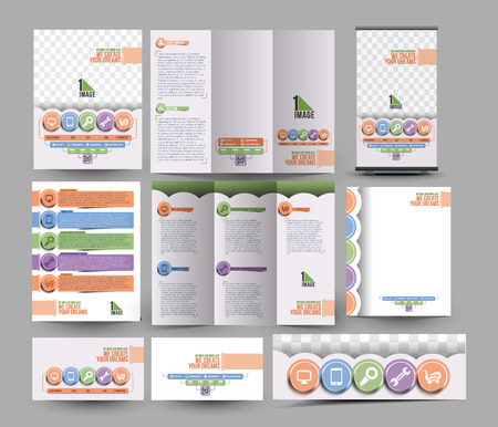 business development: Apps Development Business Stationery Set Template