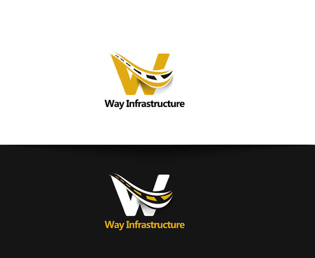 bulding: Way Infrastructure web Icons and vector logo