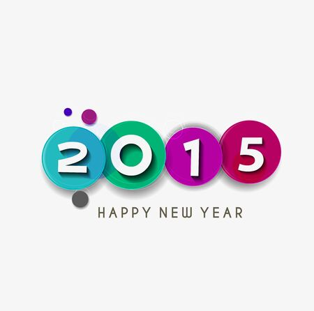 new years resolution: Happy new year 2015 Text Design Illustration