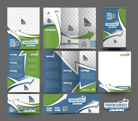 business travel: Travel Agent Business Stationery Set Template