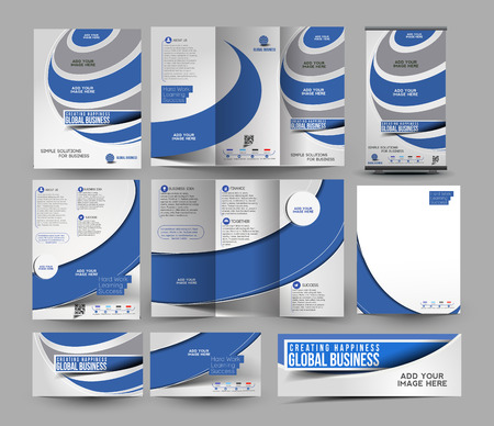 stationery set: Corporat Business Stationery Set Template Illustration