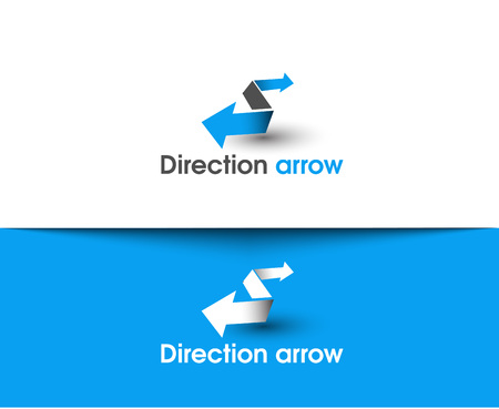 arrow icons: Direction arrow web Icons and vector logo Illustration