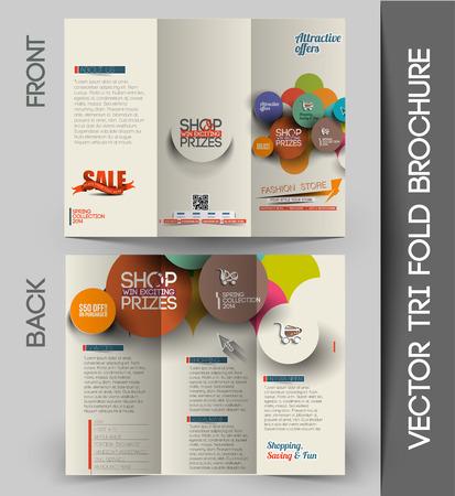 folleto: Compa�ero de Tri-Fold maqueta y Folleto de Dise�o